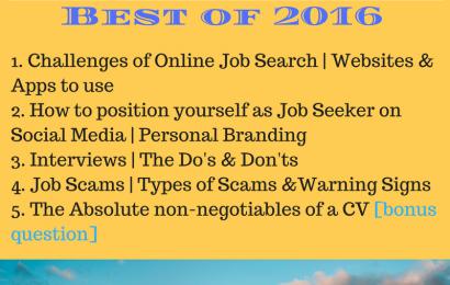 #JobAdviceSA Best of 2016 Chats 12/12/16